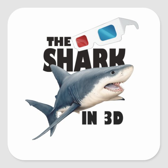 Adesivo Quadrado O filme do tubarão