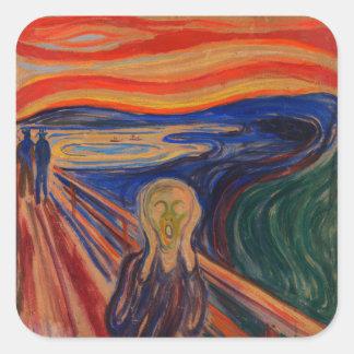 Adesivo Quadrado O gritar por Edvard Munch