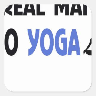 Adesivo Quadrado o homem real faz a ioga