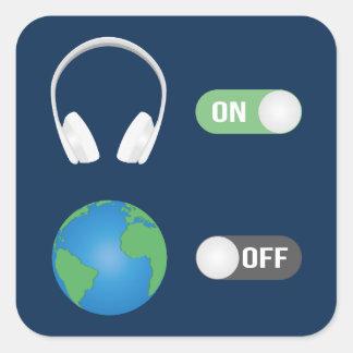 Adesivo Quadrado O interruptor da música