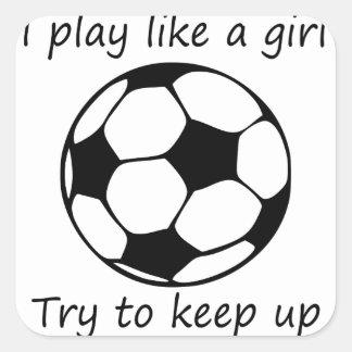 Adesivo Quadrado o jogo gosta de um girl3