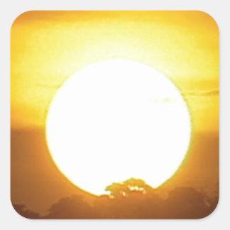 Adesivo Quadrado o kground adiciona o por do sol CONHECIDO da FOTO