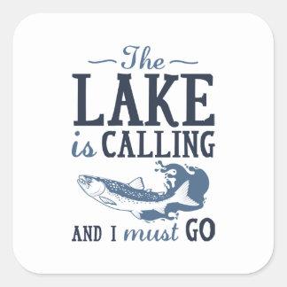 Adesivo Quadrado O lago está chamando