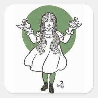 Adesivo Quadrado O mágico de Oz maravilhoso