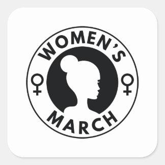 Adesivo Quadrado O março das mulheres
