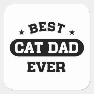 Adesivo Quadrado O melhor pai do gato nunca
