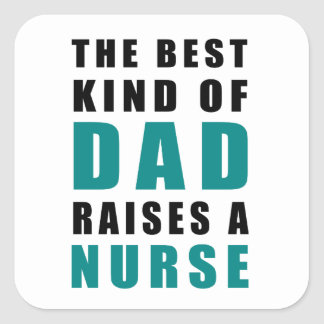 Adesivo Quadrado o melhor tipo do pai aumenta uma enfermeira