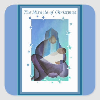 Adesivo Quadrado O milagre do Natal