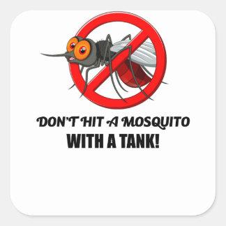 Adesivo Quadrado o mosquito não o bate com um tanque