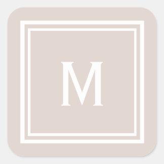 Adesivo Quadrado O na moda moderno cora monograma feito sob