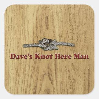 Adesivo Quadrado O nó de Dave aqui equipa - Multi-Produtos
