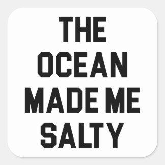 Adesivo Quadrado O oceano fez-me salgado