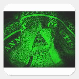 Adesivo Quadrado O olho de Illuminati
