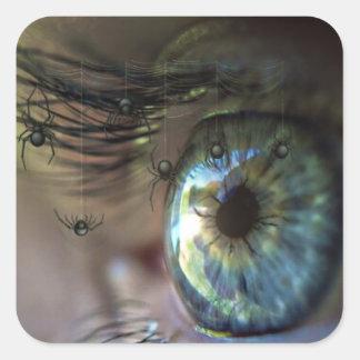 Adesivo Quadrado O olho Mystical com aranha chicoteia em você a
