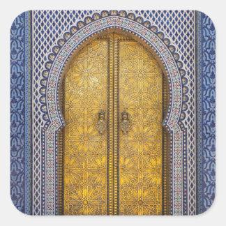 Adesivo Quadrado O Palácio Ornamentado Porta dos reis