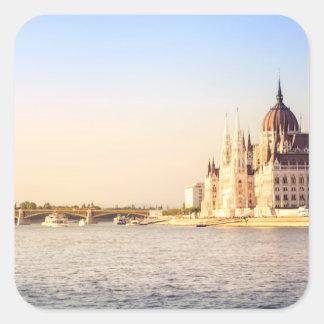 Adesivo Quadrado O parlamento de Budapest