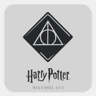 Adesivo Quadrado O período | de Harry Potter Deathly Hallows o