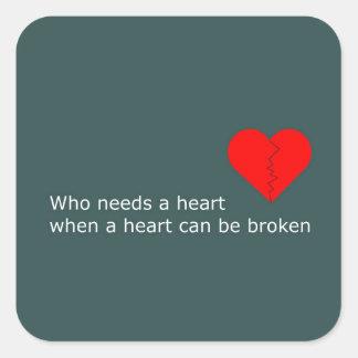 Adesivo Quadrado O que é o amor conseguiu fazer com ele