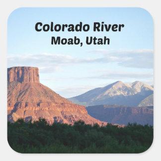 Adesivo Quadrado O Rio Colorado, Moab, UT