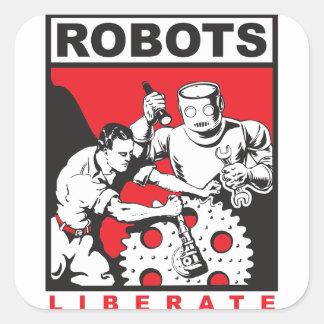 Adesivo Quadrado O robô ajusta-o livre