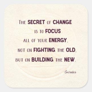 Adesivo Quadrado O segredo da mudança