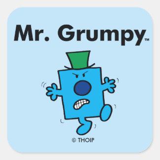 Adesivo Quadrado O Sr. Mal-humorado do Sr. Homem | é um Grump