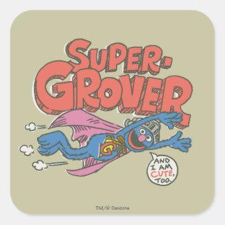 Adesivo Quadrado O vintage de Grover caçoa 1