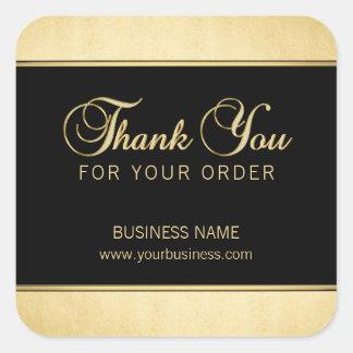 Adesivo Quadrado Obrigado profissional do negócio elegante você