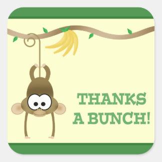 Adesivo Quadrado Obrigado (verde) da videira do macaco você