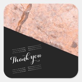Adesivo Quadrado Obrigado Wedding você pica o quartzo