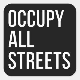 Adesivo Quadrado Ocupe todas as ruas