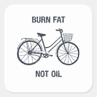 Adesivo Quadrado Óleo da gordura da queimadura da bicicleta não