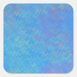 Adesivo Quadrado Olhar bonito do papel marmoreado do azul