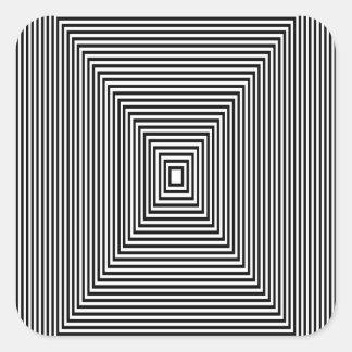 Adesivo Quadrado Olhar de túnel