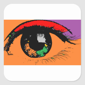 Adesivo Quadrado Olho