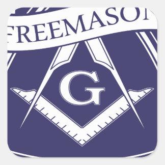 Adesivo Quadrado Olho devista de Illuninati do Freemason