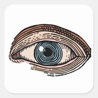 Adesivo Quadrado Olho do providência (transparente)