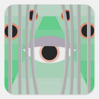 Adesivo Quadrado olho livre