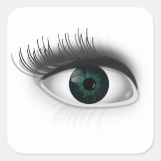 Adesivo Quadrado Olho verde