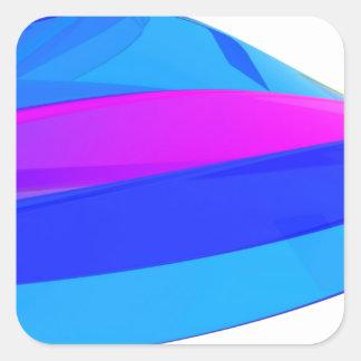 Adesivo Quadrado Onda colorida