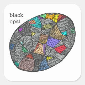 Adesivo Quadrado Opal preto