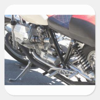 Adesivo Quadrado Opinião lateral cromada motocicleta do detalhe do