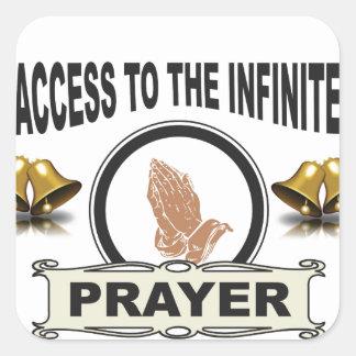 Adesivo Quadrado oração infinita do acesso
