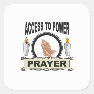 Adesivo Quadrado oração o acesso ao poder