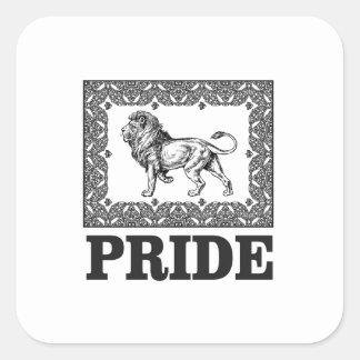 Adesivo Quadrado Orgulho extravagante do leão
