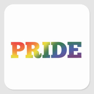 Adesivo Quadrado Orgulho gay do arco-íris no branco