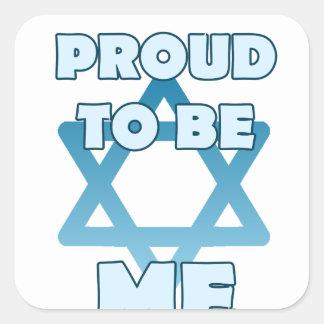Adesivo Quadrado Orgulhoso ser judaico