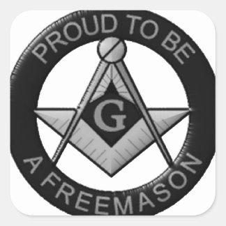 Adesivo Quadrado Orgulhoso ser um Freemason