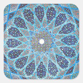 Adesivo Quadrado Oriente azul