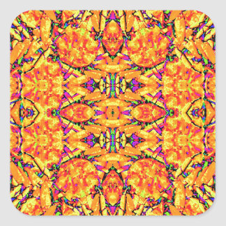 Adesivo Quadrado Ornamentado vibrante colorido